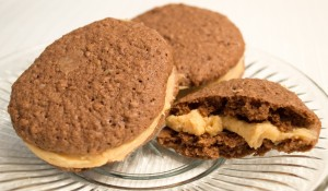 Breadcrumb Chocolate Cookies and Peanut Butter Buttercream Whoopie Pies