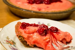 Graham Cracker Pie Crust with Cherry Jubilee Filling