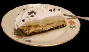 Peanut Butter Pie in Chocolate Cookie Crust
