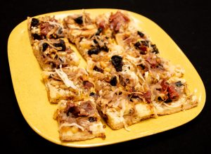 DIY Gluten-Free Pizza Crust Mix as Fig and Onion Appetizer